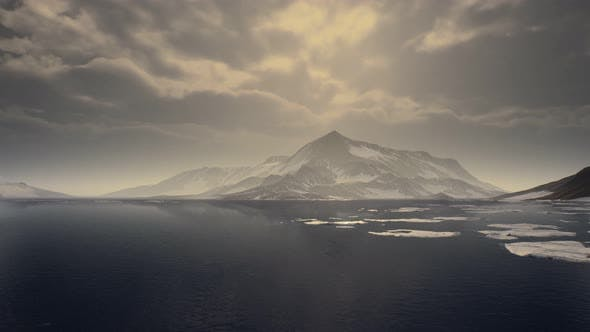 Thumbnail for Mountains Covered with Ice in Antarctic Landscape