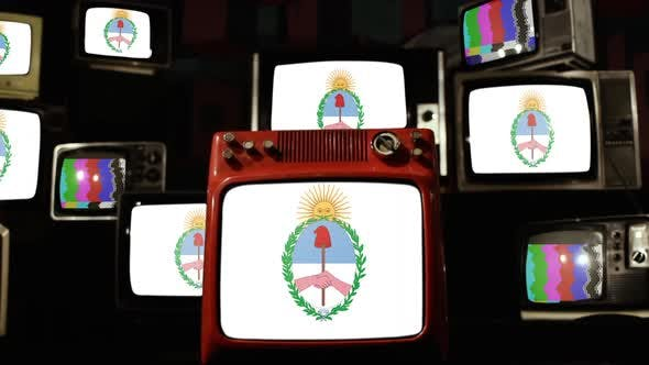 Thumbnail for Flag of Jujuy Province, Argentina, and Retro TVs.