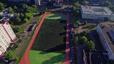 Football Stadium in a Small City of Europe