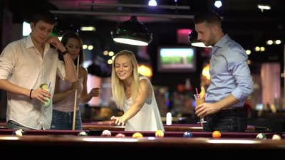 Playing Billiard With Friends