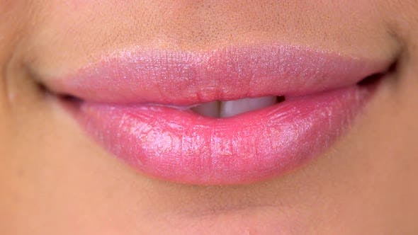 Thumbnail for Extreme close up of woman's lips