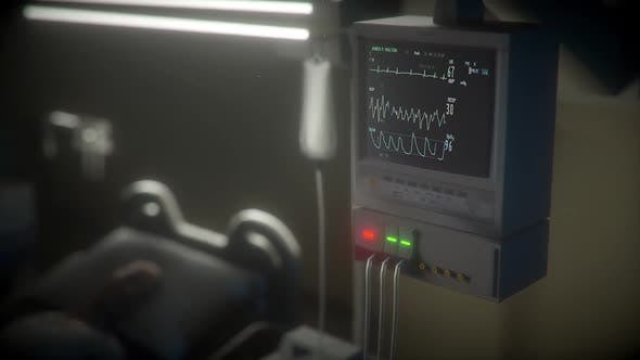 A patient is in the hospital heart beat