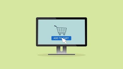 Animation of Shopping online app, shopping on Website, ecommerce
