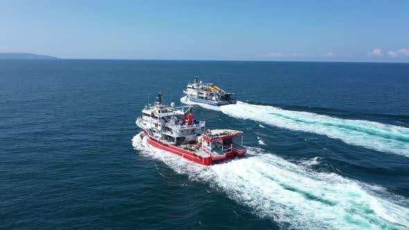 Thumbnail for Trabzon City Sea And Boats Aerial View
