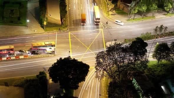 Cover Image for Time Lapse Traffic Intersection