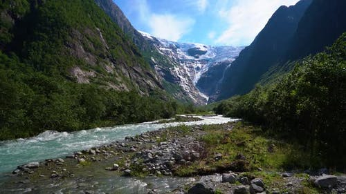 Nature Norway Glacier Kjenndalsbreen