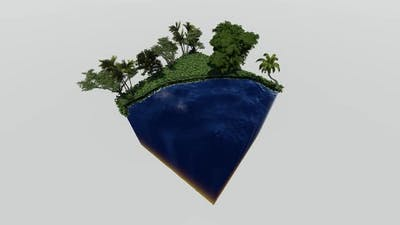 Isometric seafront forest