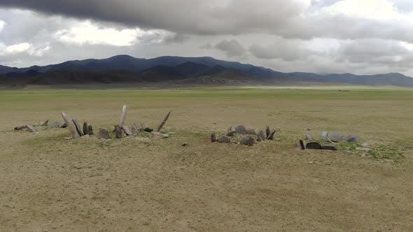 Deerstone Stele in the Mongolia Meadow