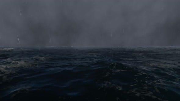 Storm In The Ocean 4k Loopable