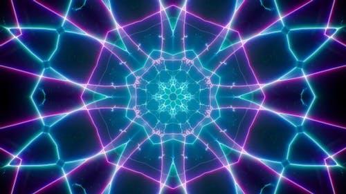 Fast Blink Cyber Neon Line Background Loop 4K 01