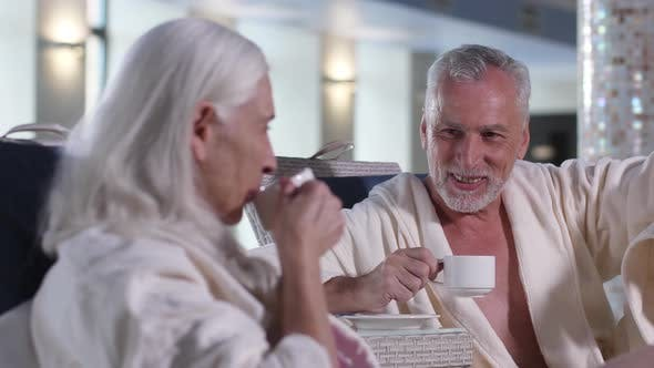 Thumbnail for Happy Mature Couple During Leisure in Luxury Hotel