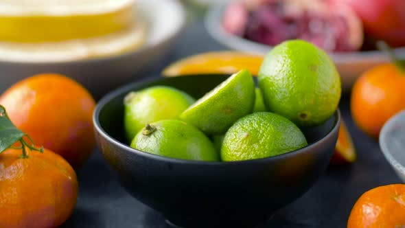Thumbnail for Close Up of Limes, Oranges, Mandarins and Lemons