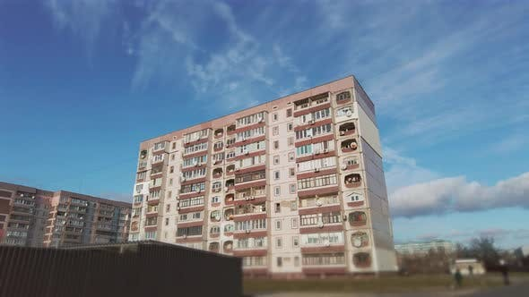 Thumbnail for Hyperlapse of a Multistory Old Building Against a Blue Sky and Moving Clouds