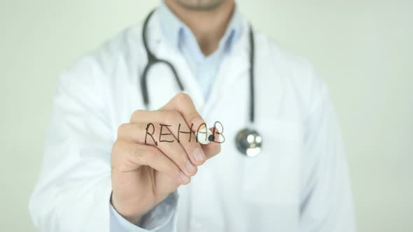 Thumbnail for Rehab, Doctor Writing on Transparent Screen