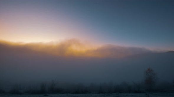 Sunrise in a White Mist