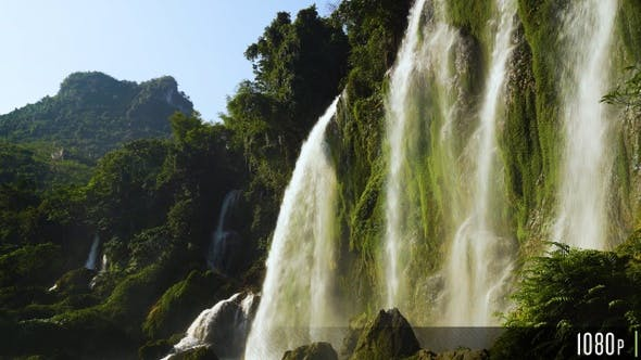 Thumbnail for Beautiful Waterfall Mountain View Close Up in Asia
