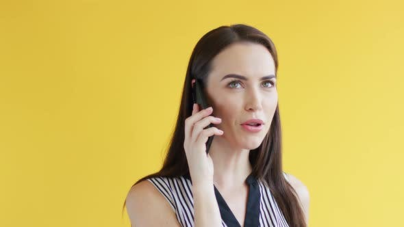 Thumbnail for Displeased Woman Speaking on Phone