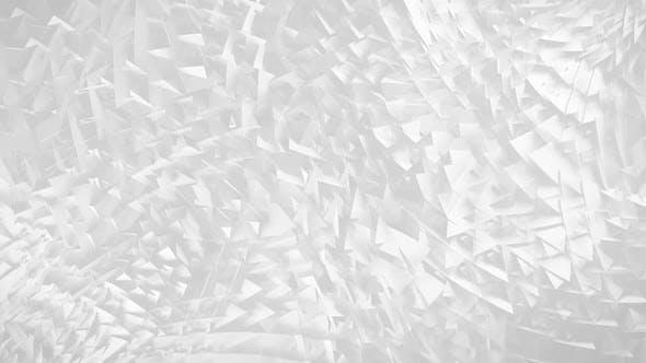 White 3D Triangles