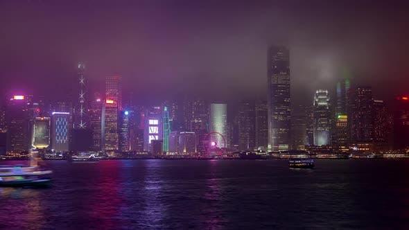 Thumbnail for Hong Kong Buildings Surround Ferris Wheel
