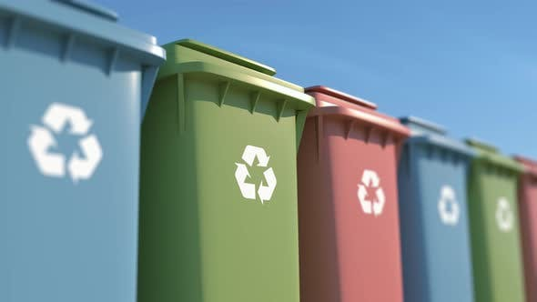 Thumbnail for Colored Garbage Bins for Environmental Protection