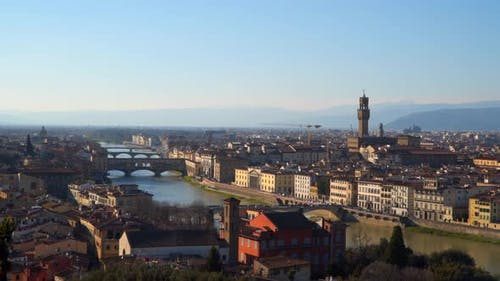 A fabulous panoramic view of Florence from Michelangelo Square