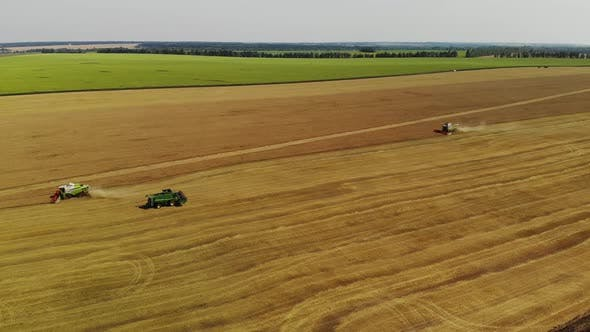 Thumbnail for Harvesting Grain By the Combine in the Central Black Earth of Russia