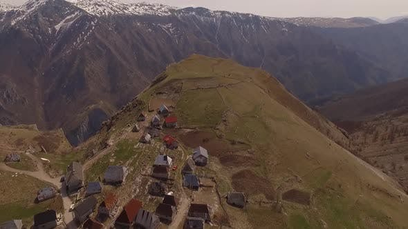 Thumbnail for Aerial Shot Of Mountain Village