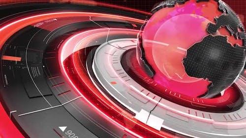 Digital World Map News Intro Background 32