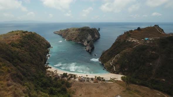 Thumbnail for Aerial View Beautiful Beach. Nusa Penida
