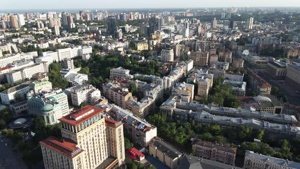 View of Kyiv From Above. Ukraine. Aerial View