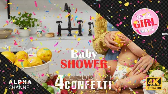 Thumbnail for Baby Shower Celebrations - Girl Colors Confetti Pack