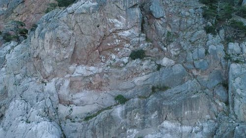 Steep cliff with ledges