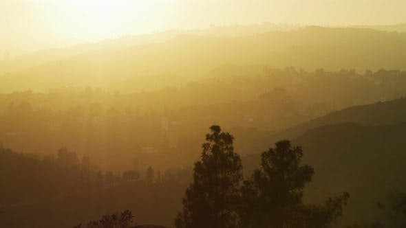 Thumbnail for Sun shining over the Hollywood Hills