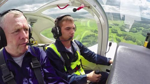 Novice Flyer Practicing Aviating