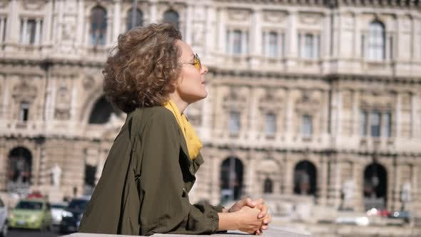 Thumbnail for Woman Tourist Enjoying City Sightseeing. Travel To Europe Concept
