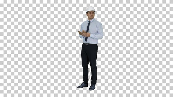 Thumbnail for Man in Helmet and Formal Clothes Walking Looking Around And