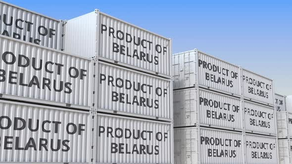 Thumbnail for Containers with PRODUCT OF BELARUS Text