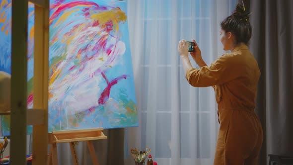 Taking Photo of Painting Masterpiece