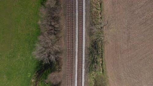 Flying Along a Train Track