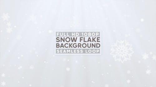 White Snow Flake Background