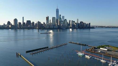New York City - Manhattan Skyline and Hudson River