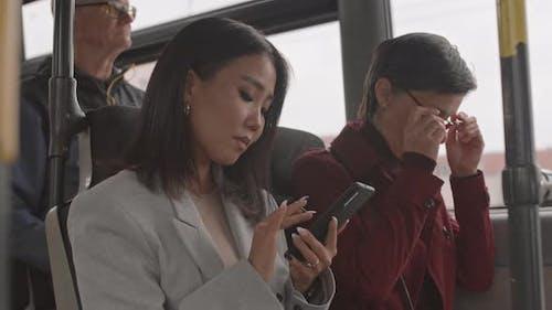 Passengers on Bus Ride