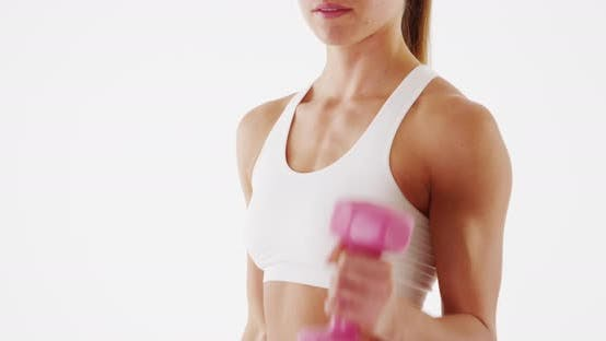 Thumbnail for Woman fitness lifting weights