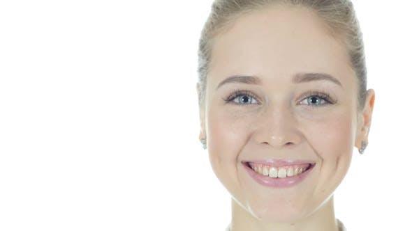 Thumbnail for Woman Turning Face Toward Camera, Smiling