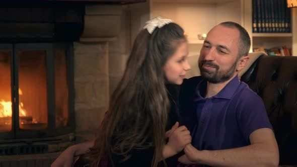 Thumbnail for Daughter's Time with Father: Smiling, Embracing, Tickling and Having Fun