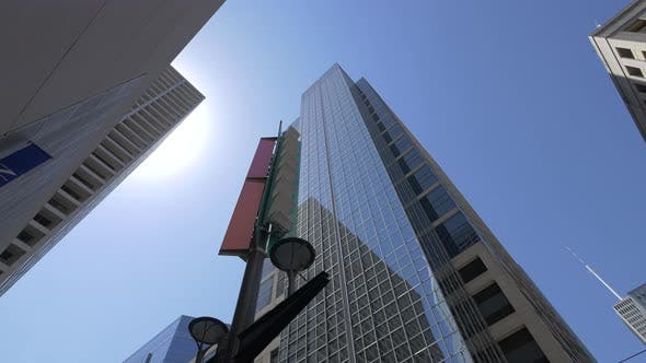 Thumbnail for Low angle of a skyscraper