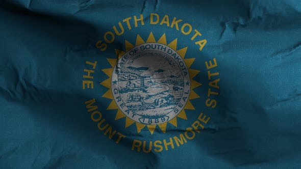 South Dakota State Flag 4K