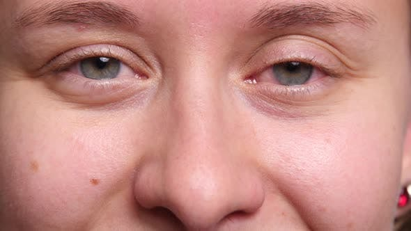 Extreme closeup of woman's eyes