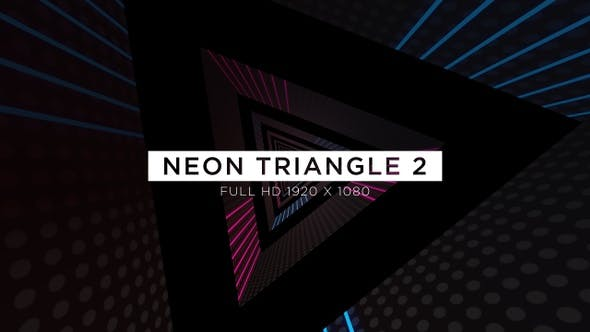 Thumbnail for Neon Triangle 2 VJ Loops Background