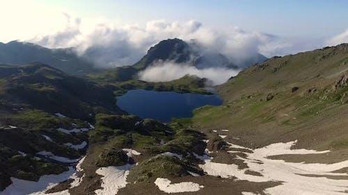Aerial Mountain Lake